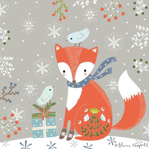 Rajzolt rókák karácsony alkalmából! - Rókavilág.hu