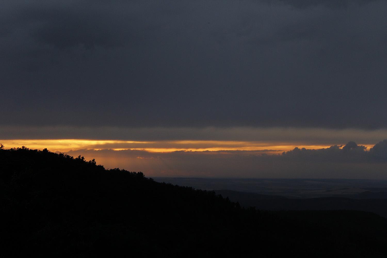 Dobogókő, naplemente és egy fatörzs, ami valójában egy róka koma - Rókavilág.hu